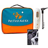 Erste Hilfe Set für Haustiere, tierärztliche Erste-Hilfe-Tasche für Hunde, Katzen, Kaninchen, Tiere, inklusive Otoskop,...