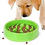 Hundenapf Slow Feeder - Rutschfest Fressnapf zur Langsameren Nahrungsaufnahme, Anti Schling Interessanter Interaktiver Pet...