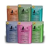 catz finefood Multipack 2, 12 x 85g Beutel, Feinkost Katzenfutter nass, Sorten Mix-Paket 2 mit Huhn, Thunfisch, Rind, Rotbarsch,...