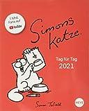Simons Katze Tagesabreißkalender 2021 - Tischkalender mit perforierten Seiten - zum Aufstellen oder Aufhängen - Format 11 x 14...