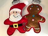 Webbox Weihnachtsmann / Lebkuchen Mann Quietsche Hund Spielzeug (Packung 2)