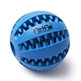 PetPäl Hundeball mit Zahnpflege-Funktion Noppen Hundespielzeug aus Naturkautschuk - RobusterHunde Ball Ø 7cm - Hundespielball...