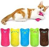 Katzen Kauen Kissen Spielzeug, 5 Stück Niedlich Plüsch Daumen Geformt Katzenspielzeug Katzenminze Set, zum Kuscheln und Spielen,...