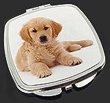 Advanta - Compact Mirror Golden Retriever -Welpen-Hunde Make-up Taschenspiegel
