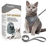 Toulifly Katzengeschirr, Katzen Weste mit Leine, Verstellbare Geschirr für kleine Katze und Hunde, Escape Proof Cat Harness Set...