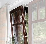 TRIXIE 2X Kippfenster-Schutzgitter, Seitenelement, weiß - 62x16/8cm, inkl. Schrauben