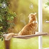 YIQI Katzen-Hängematte, platzsparendes Design, Fensterstange, zum Aufhängen mit großen Saugnäpfen, atmungsaktives...