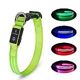 LED Hundehalsband Wiederaufladbare USB Leuchthalsband 100% Wasserdichtes Leuchtendes Hunde Halsband Einstellbare Super Helle für...