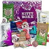 Kitty-Boxx (13 Teile) Geschenk für Katzenliebhaber - Geschenkbox mit Katzenspielzeug, Katzenfutter, Pflegeprodukten, praktischen...